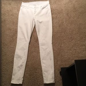 7 for all Mankind the White Skinny Jean